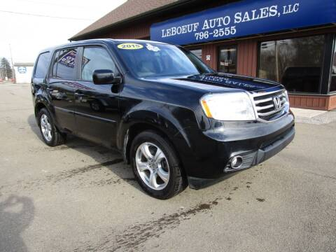2015 Honda Pilot for sale at LeBoeuf Auto Sales in Waterford PA