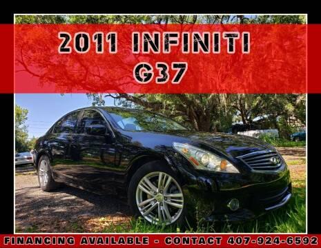 2011 Infiniti G37 Sedan for sale at AFFORDABLE ONE LLC in Orlando FL