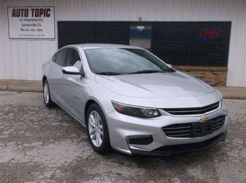 2017 Chevrolet Malibu for sale at AUTO TOPIC in Gainesville TX