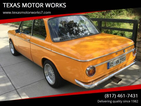 1968 BMW 2002 Series for sale at TEXAS MOTOR WORKS in Arlington TX