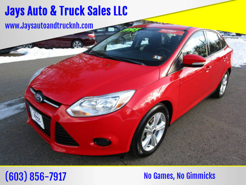 2013 Ford Focus for sale at Jays Auto & Truck Sales LLC in Loudon NH