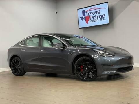 2018 Tesla Model 3 for sale at Texas Prime Motors in Houston TX