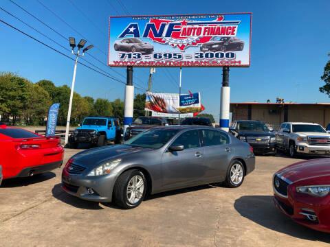 2011 Infiniti G37 Sedan for sale at ANF AUTO FINANCE in Houston TX