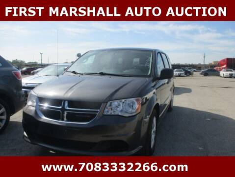 2015 Dodge Grand Caravan for sale at First Marshall Auto Auction in Harvey IL