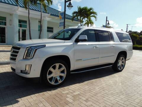 2018 Cadillac Escalade ESV for sale at Town Cars Auto Sales in West Palm Beach FL
