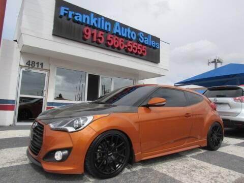 2015 Hyundai Veloster Turbo for sale at Franklin Auto Sales in El Paso TX