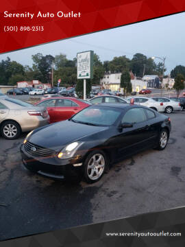 2004 Infiniti G35 for sale at SERENITY AUTO OUTLET in Frederick MD