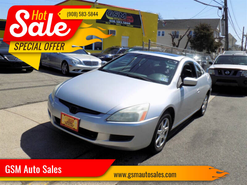 2003 Honda Accord for sale at GSM Auto Sales in Linden NJ