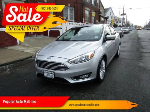 2015 Ford Focus for sale at Popular Auto Mall Inc in Newark NJ