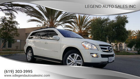2008 Mercedes-Benz GL-Class for sale at Legend Auto Sales Inc in Lemon Grove CA
