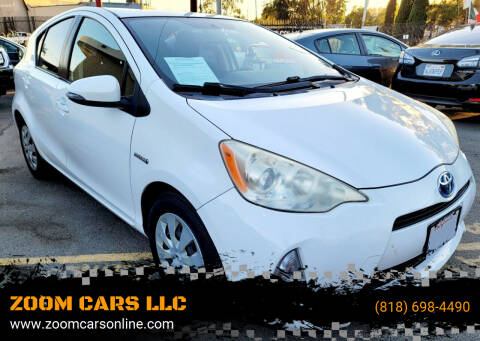 2013 Toyota Prius c for sale at ZOOM CARS LLC in Sylmar CA
