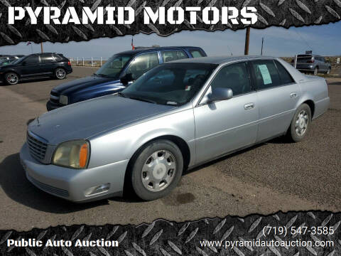 2002 Cadillac DeVille for sale at PYRAMID MOTORS - Pueblo Lot in Pueblo CO