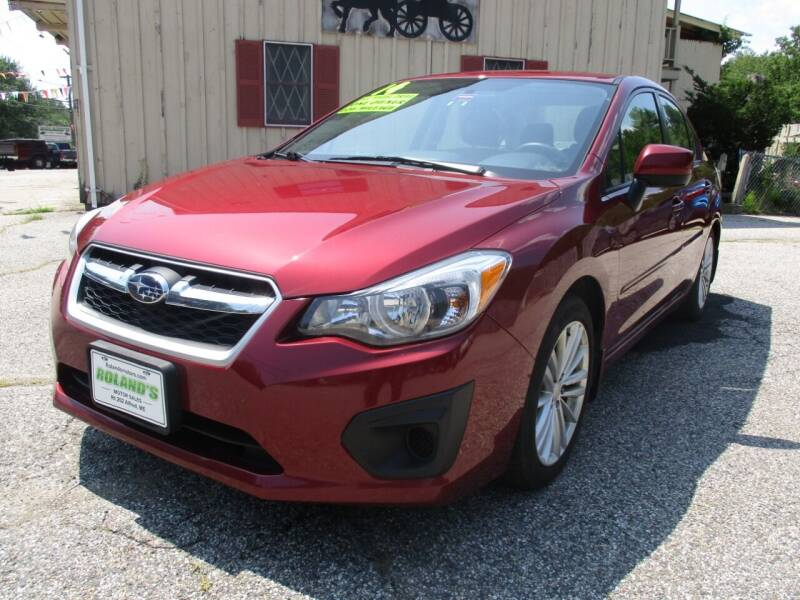 2014 Subaru Impreza for sale at Roland's Motor Sales in Alfred ME