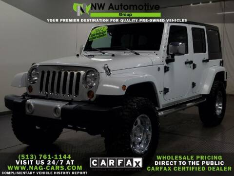 2012 Jeep Wrangler Unlimited for sale at NW Automotive Group in Cincinnati OH