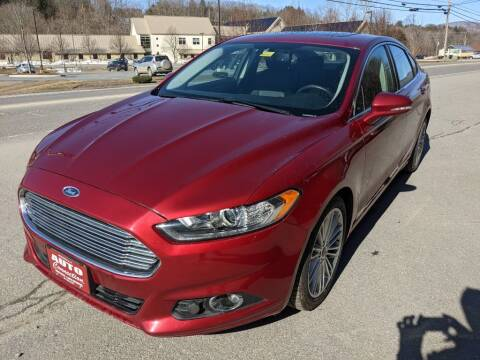 2016 Ford Fusion for sale at AUTO CONNECTION LLC in Springfield VT