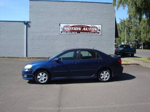 2007 Toyota Corolla for sale at Motion Autos in Longview WA