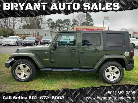 2008 Jeep Wrangler Unlimited for sale at BRYANT AUTO SALES in Bryant AR