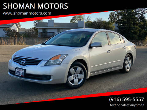 2008 Nissan Altima for sale at SHOMAN MOTORS in Davis CA