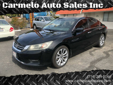 2015 Honda Accord for sale at Carmelo Auto Sales Inc in Orange CA