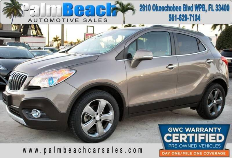 2014 Buick Encore for sale at Palm Beach Automotive Sales in West Palm Beach FL