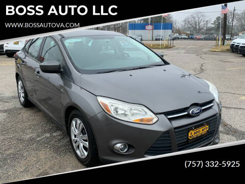 2012 Ford Focus for sale at BOSS AUTO LLC in Norfolk VA