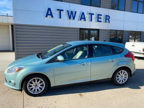 2012 Ford Focus for sale at Atwater Ford Inc in Atwater MN
