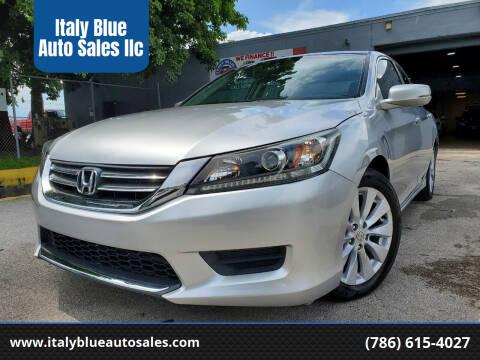 2013 Honda Accord for sale at Italy Blue Auto Sales llc in Miami FL