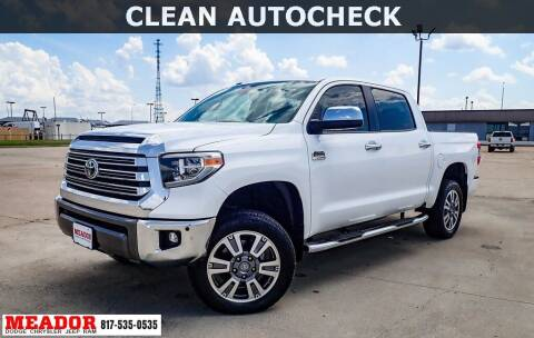 2019 Toyota Tundra for sale at Meador Dodge Chrysler Jeep RAM in Fort Worth TX