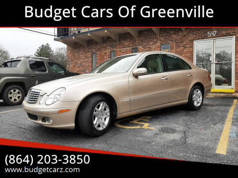 2005 Mercedes-Benz E-Class for sale at Budget Cars Of Greenville in Greenville SC