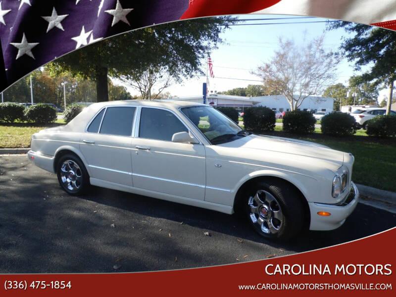 2001 Bentley Arnage for sale at CAROLINA MOTORS in Thomasville NC