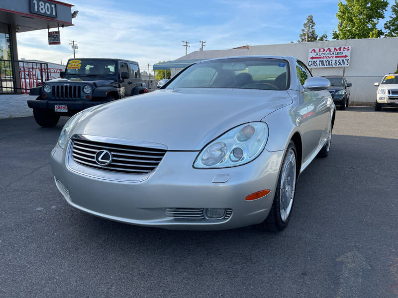 2002 Lexus SC 430 for sale at Adams Auto Sales in Sacramento CA