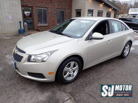 2014 Chevrolet Cruze for sale at S & J Motor Co Inc. in Merrimack NH