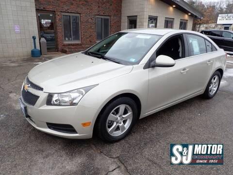 2014 Chevrolet Cruze for sale at S & J Motor Co Inc. in Merrimack NH