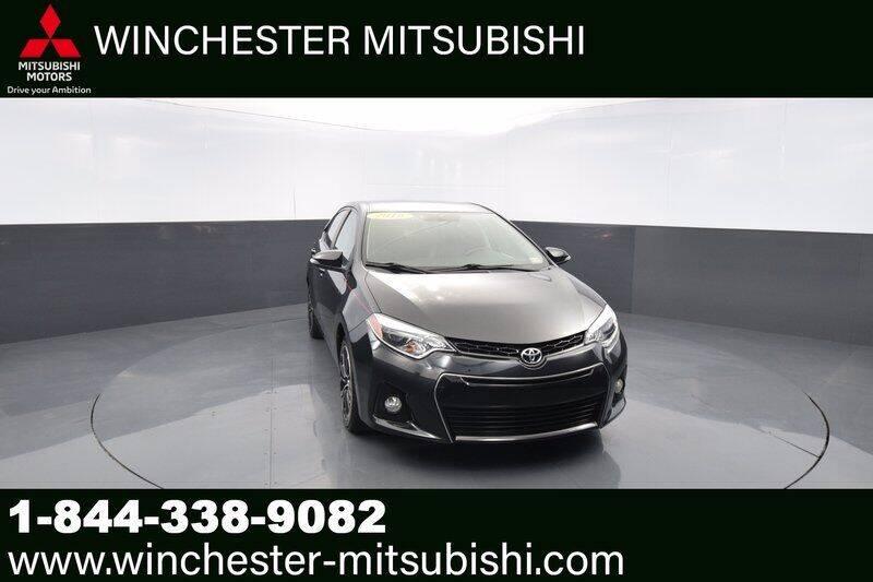2016 Toyota Corolla for sale at Winchester Mitsubishi in Winchester VA