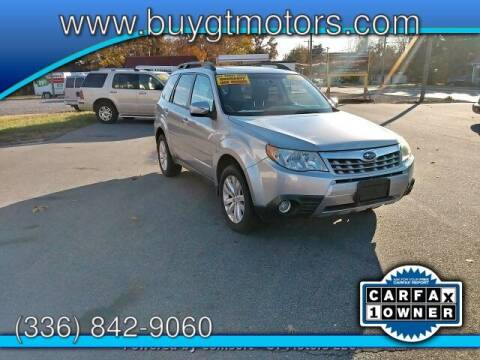 2012 Subaru Forester for sale at GT Motors, LLC in Elkin NC