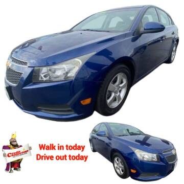 2013 Chevrolet Cruze for sale at Credit Connection Auto Sales in Midwest City OK