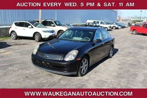 2003 Infiniti G35 for sale at Waukegan Auto Auction in Waukegan IL