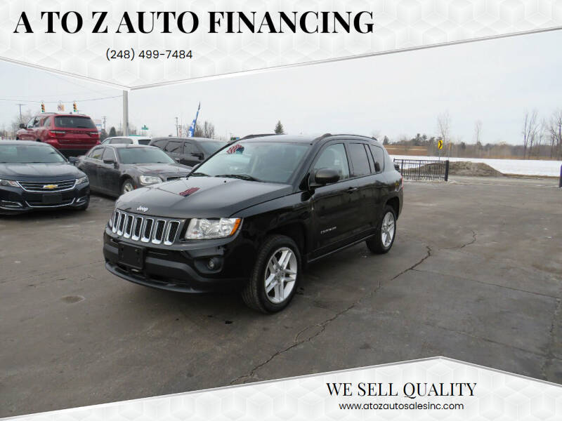 2012 Jeep Compass for sale at A to Z Auto Financing in Waterford MI