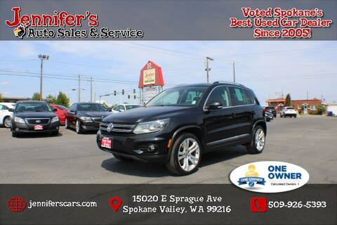 2013 Volkswagen Tiguan for sale at Jennifer's Auto Sales in Spokane Valley WA