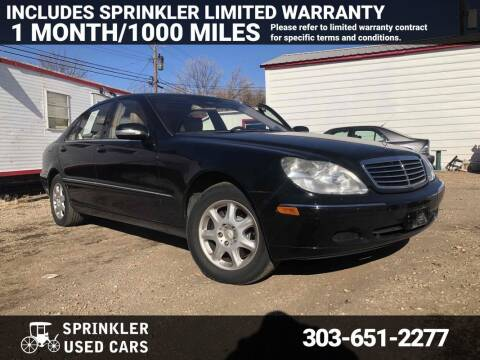 2001 Mercedes-Benz S-Class for sale at Sprinkler Used Cars in Longmont CO