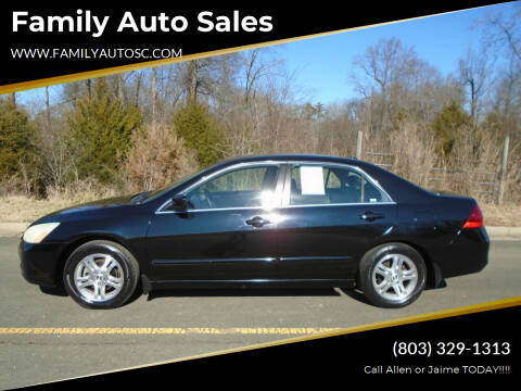 2007 Honda Accord for sale at Family Auto Sales in Rock Hill SC