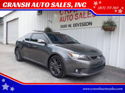 2011 Scion tC for sale at CRANSH AUTO SALES, INC in Arlington TX