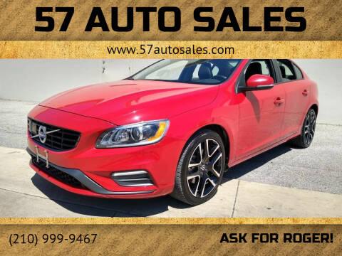 2018 Volvo S60 for sale at 57 Auto Sales in San Antonio TX