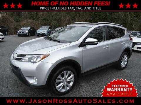 2015 Toyota RAV4 for sale at Jason Ross Auto Sales in Burlington NC