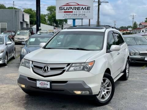 2009 Acura MDX for sale at Supreme Auto Sales in Chesapeake VA