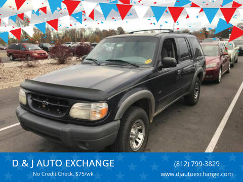 2000 Ford Explorer for sale at D & J AUTO EXCHANGE in Columbus IN