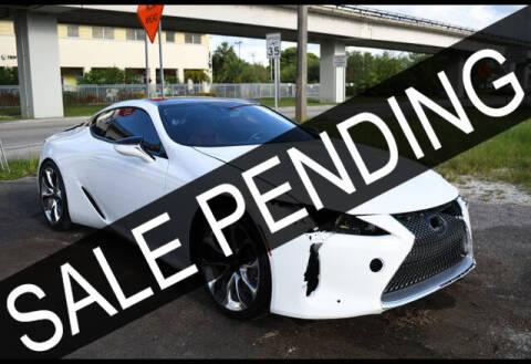 2018 Lexus LC 500 for sale at AE Of Miami in Miami FL