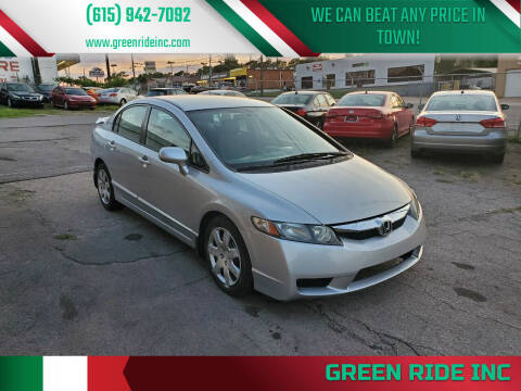 2010 Honda Civic for sale at Green Ride Inc in Nashville TN