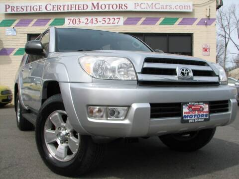 2004 Toyota 4Runner for sale at Prestige Certified Motors in Falls Church VA