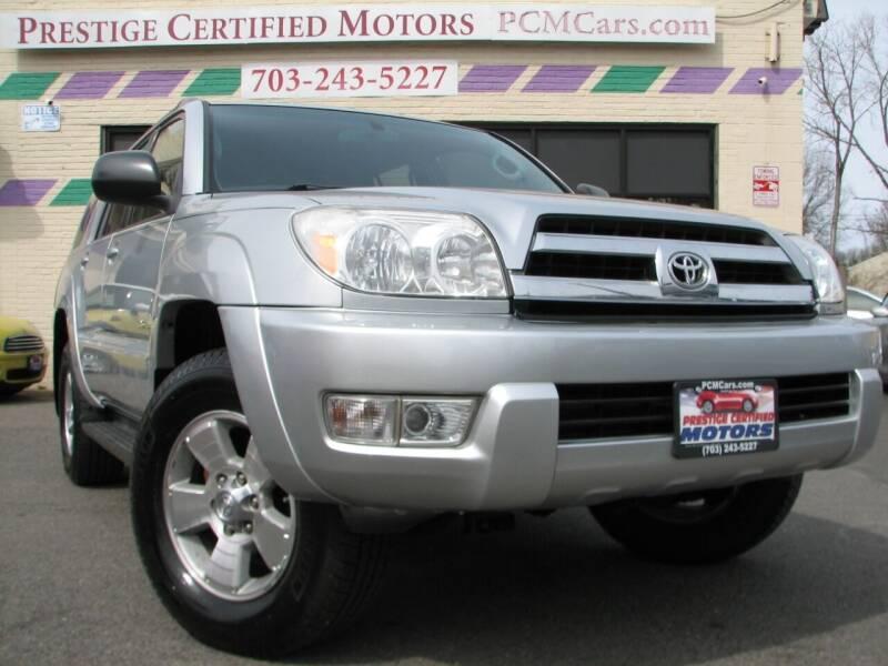 2004 Toyota 4Runner for sale at Prestige Certified Motors in Falls Church VA